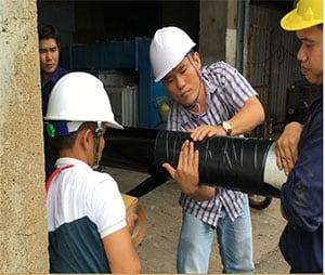 Đường ống dẫn dầu FO từ cảng vào nhà máy VEDAN