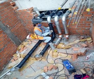 Bọc ống chữa cháy ngầm tòa nhà chung cư Vinaconex - Hà Nội