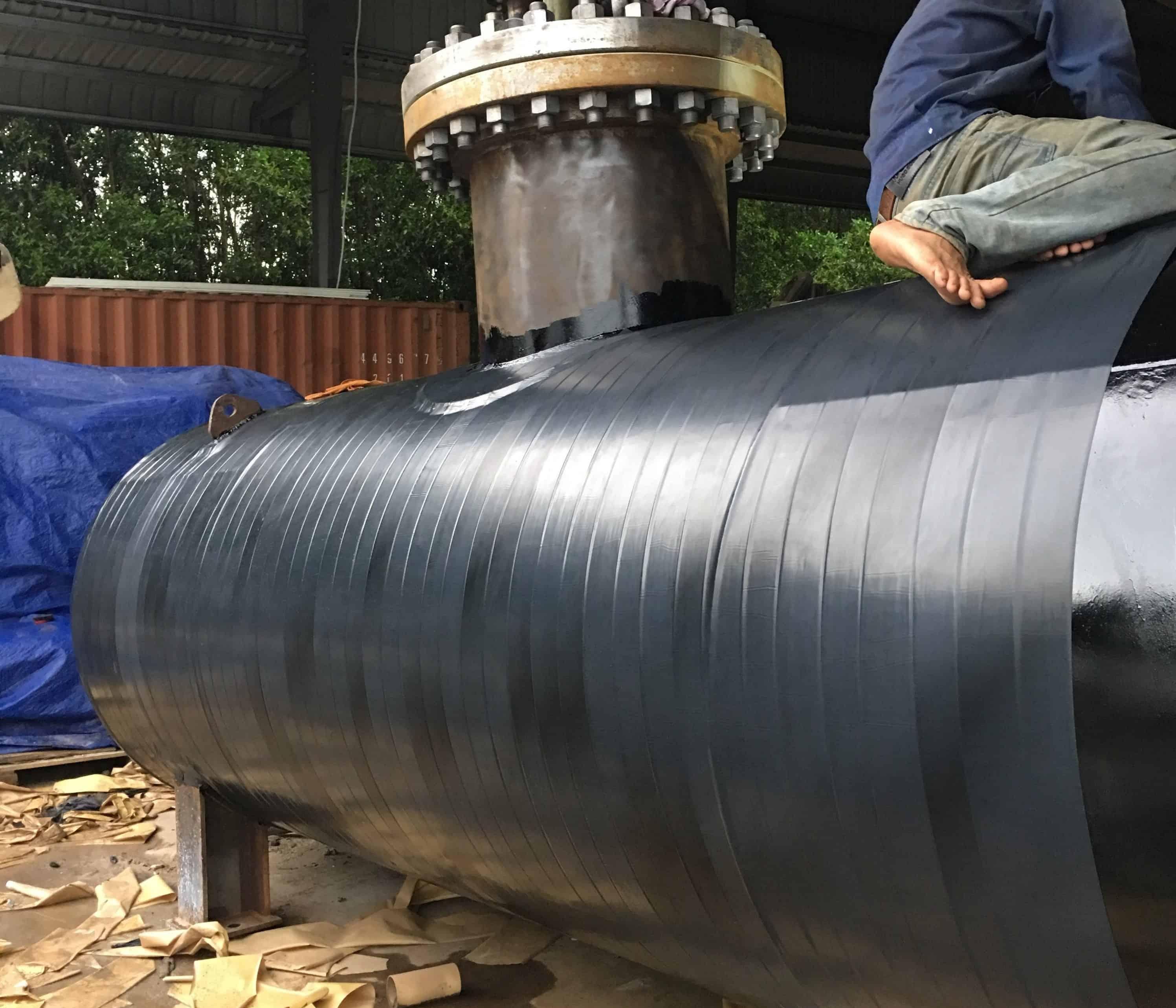 Bọc bồn khí Gas chôn ngầm cho dự án tổ hợp khách sạn Nam Hội An ĐN