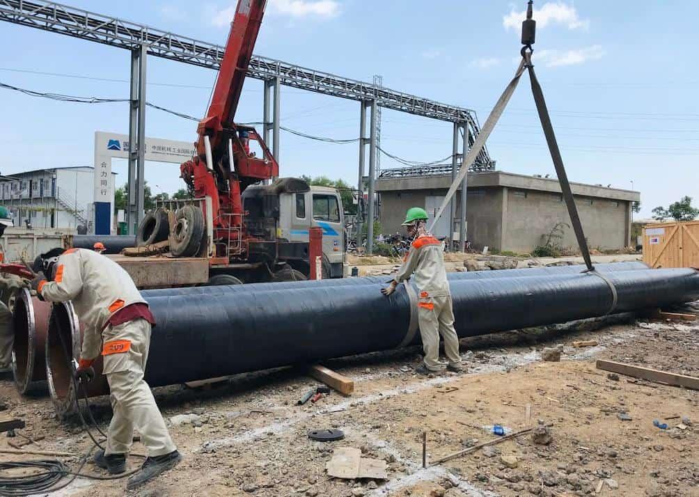 Bọc bảo vệ ống nước chôn ngầm tại nhà máy thép Pomina 3 - BRVT