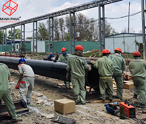 Anti corrosion protection for the water pipelines at Pomina 3 Steel - Phu My Industrial Zone