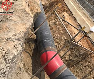Bọc mối nối hàn tại Khu liên hợp lọc hóa dầu Long Sơn - BR VT