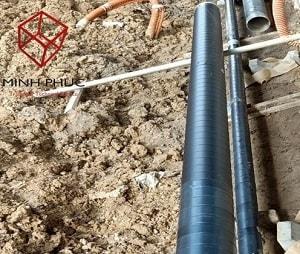 Bọc ống PCCC ngầm tại nhà máy TCL, KCN VSIP Bình Dương