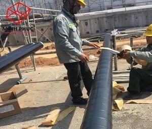 Bọc ống PCCC ngầm tại NM Evergreen – VSIP II, Bình Dương