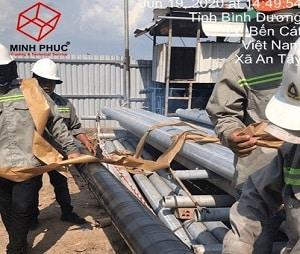 Bọc chống ăn mòn đường ống cấp nước tại Dự án Topkey - KCN Protrade - Bình Dương