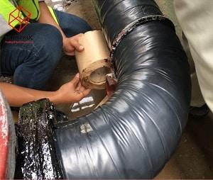 Bọc chống ăn mòn đường ống cấp nước nhà máy hóa chất Tân Bình 2 - KCN Biên Hòa 1