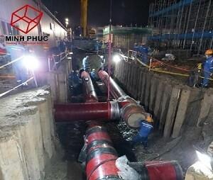 Bọc ống PCCC ngầm tại NM Hyosung - KCN Cái Mép - BR VT