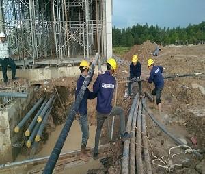 Bọc ống ngầm tại NM Far Eastern - KCN Bầu Bàng - Bình Dương
