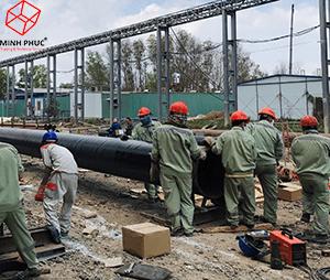 Bọc ống dẫn nước tại Nhà máy luyện phôi thép Pomina 3 - KCN Phú Mỹ