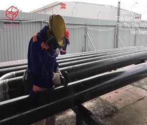 Bọc ống PCCC tại Nhà kho vận Mapletree tại Bình Dương