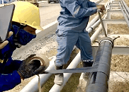 Applying Premcote 101 for underground firewater pipes